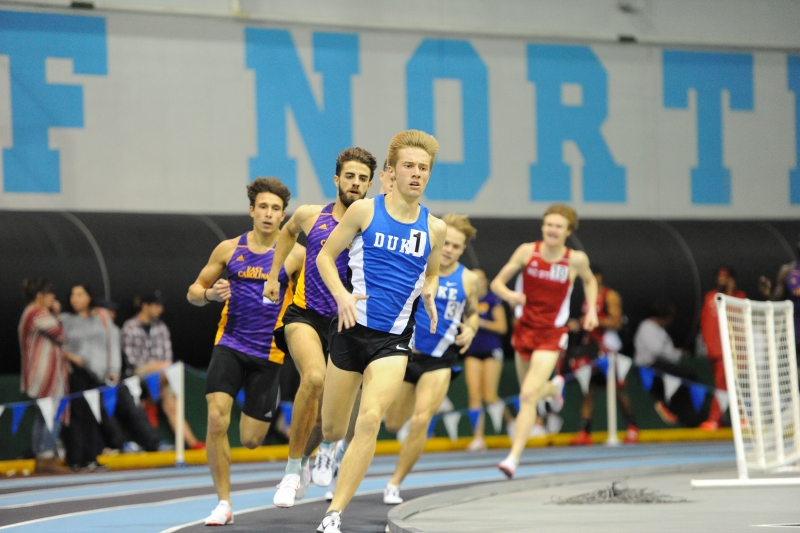 Rookie Matt Wisner continued his dominant season in the 800 meters with another individual title this weekend in Blacksburg.