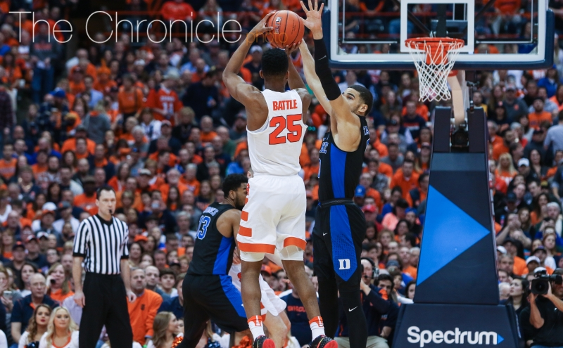 Syracuse freshman Tyus Battle made several key plays in the second half, finishing with 18 points.