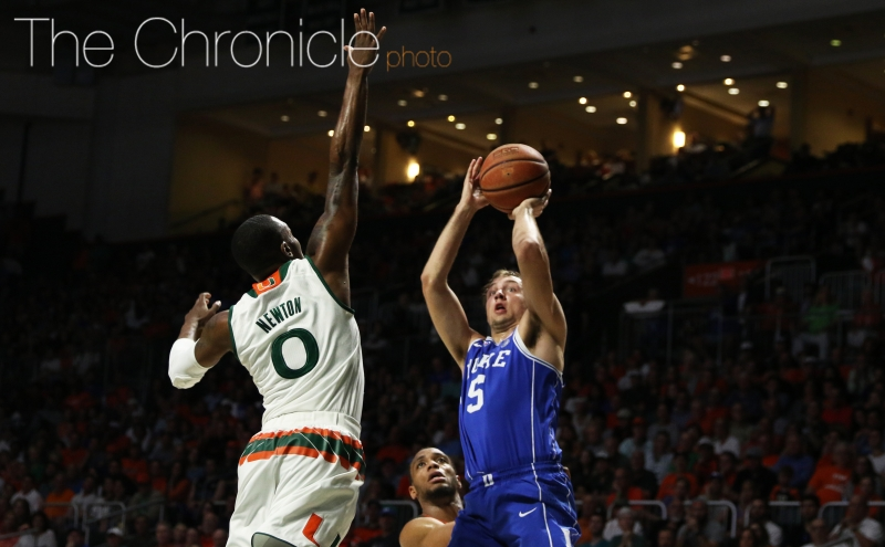 Beyond the arc: Duke men's basketball vs. Miami