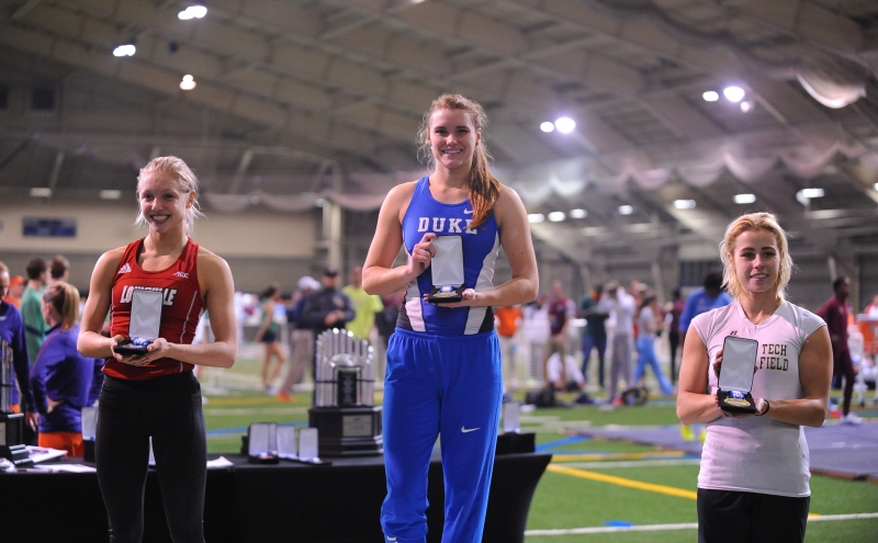 Junior Madison Heath captured the ACC title in the pole vault to qualify for the NCAA championship.