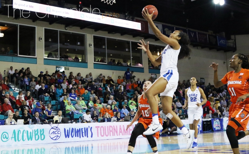 Junior Lexie Brown and the Blue Devils used a 9-0 run near the end of the third quarter to build a double-digit advantage.