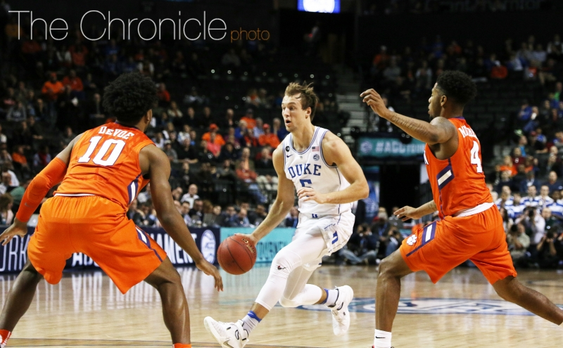 Despite starting the game 1-of-9 from the field, Luke Kennard got going after halftime as the Blue Devils pulled away.
