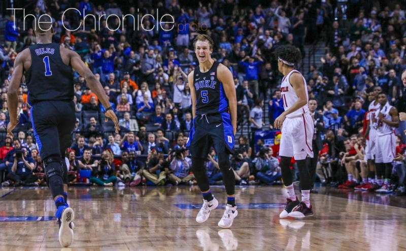 Sophomore Luke Kennard scored 18 of his 24 points after halftime—including 10 straight Duke points at one point—as the Blue Devils overcame a 12-point deficit to notch their third top-15 win of the season.