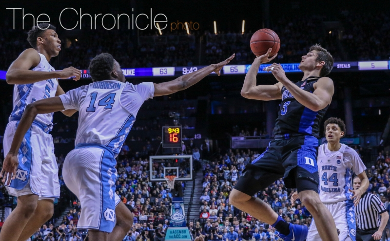 Grayson Allen looks as healthy as he has all season heading into the ACC title game.