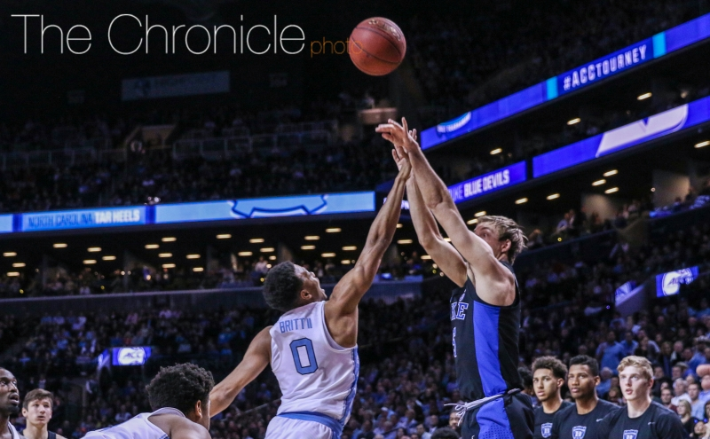 Luke Kennard has had three straight big second halves—he'll need to get hot again from deep for the Blue Devils to win the ACC championship.