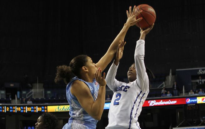 Beat writer Nick Martin writes that Duke can make a run because of Alexis Jones' improved play with Chelsea Gray injured.