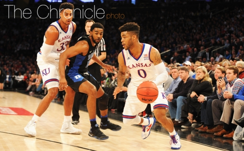 National Player of the Year candidate Frank Mason hopes to lead Kansas to the Final Four by coming up clutch late in close games like he did against Duke in November.