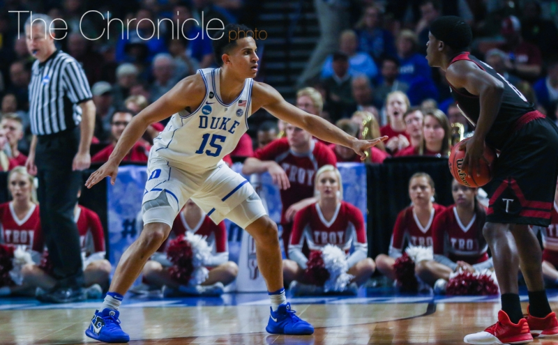 Frank Jackson and the Blue Devils have improved defensively late in the season and will need to lock in on SEC Player of the Year Sindarius Thornwell.