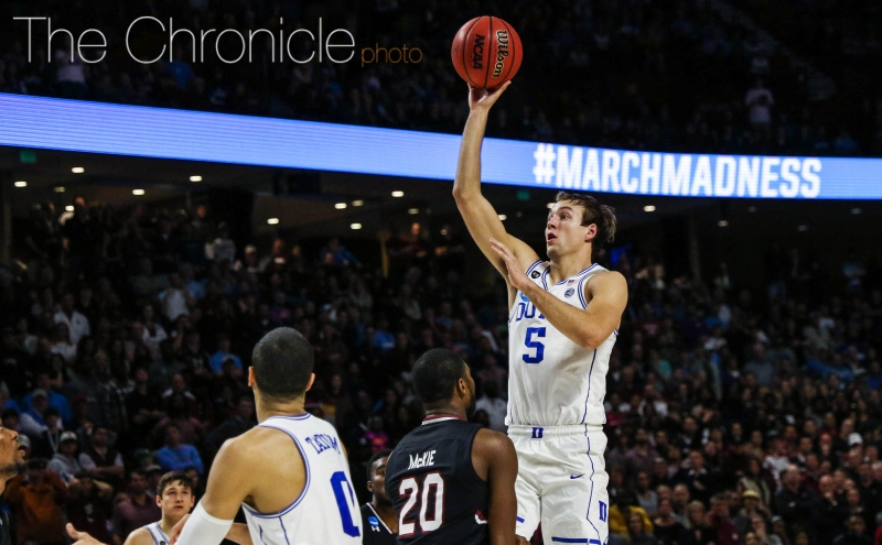 Luke Kennard struggled mightily in the NCAA tournament and now will have to decide whether or not to return to school.