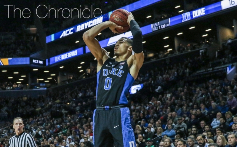Jayson Tatum became the third Blue Devil freshman during head coach Mike Krzyzewski's tenureever to average at least15 points and seven rebounds per game.