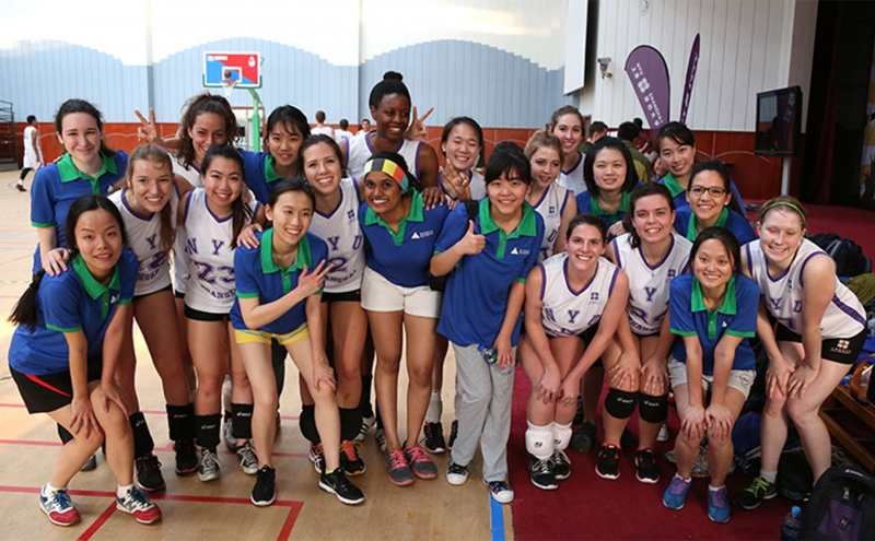 Students from DKU and NYU Shanghai first came together for competitions in men's basketball and women's volleyball in spring 2015.