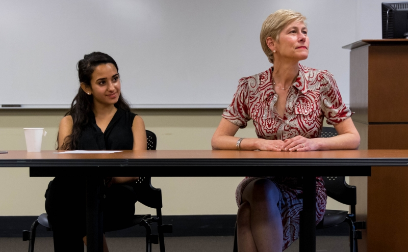 Former U.S. Senate Candidate Deborah Ross discussed getting involved in politics during a Tuesday evening event.