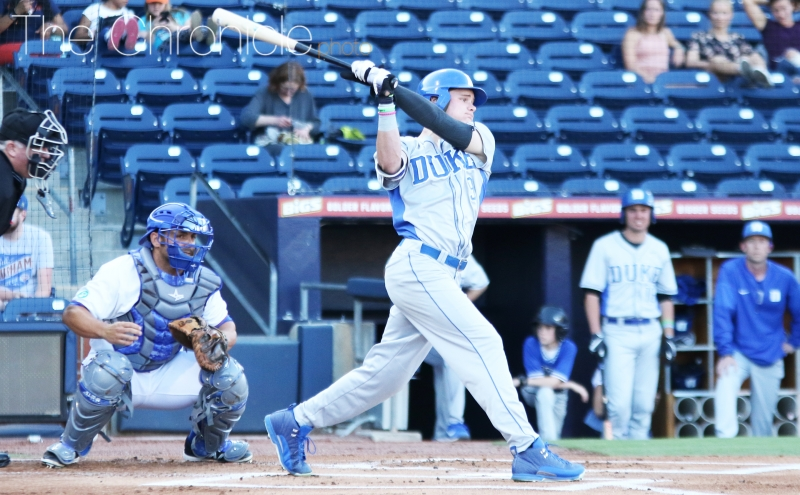 Midseason All-American Griffin Conine continued his offensive tear, putting up two home runs against the Fighting Camels in Wednesday's slugfest.