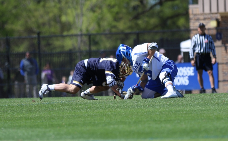 Junior Kyle Rowe ranks second in the ACC in faceoff percentage and ground balls won per game, giving the Blue Devils plenty of offensive opportunities.