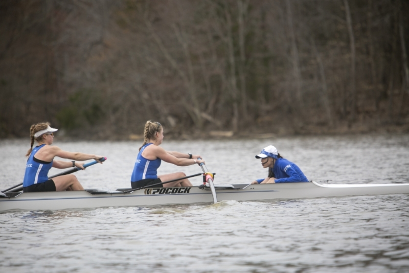 Duke came in behindNo. 4 Ohio State and No. 3 Michigan in all five races Saturday, but finished ahead of Notre Dame for third place three times.