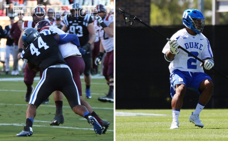 Joe and JT Giles-Harris have stood out in two different sports for the Blue Devils this year in their first seasons competing.