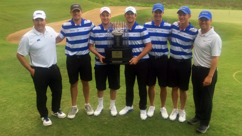 The Blue Devils led from start to finish Friday and Saturday, winning their first ACC title since 2013.