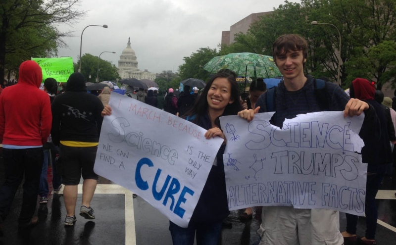 Students said they attended the march in D.C. this weekend because of their passion for science and research.
