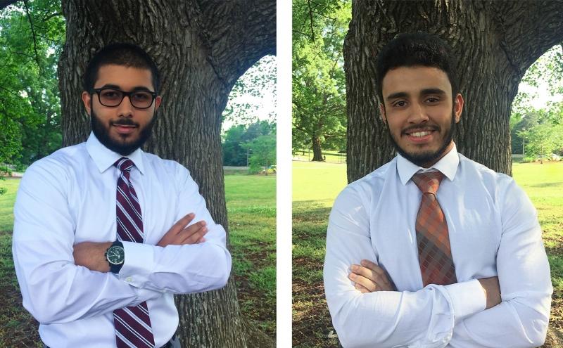 First-yearsSajidur Rahman-Kader (right) and Usamah Chaudhary will serves as president and vice president of MSA next year.