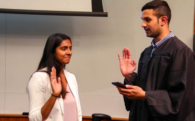 Junior Riyanka Ganguly, DSG's new president, said that she strived to choose diverse voices for her cabinet.