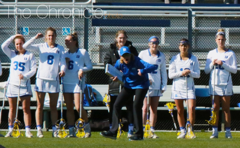 Women's lacrosse head coach Kerstin Kimel is the chair of the Division I legislation committee and spearheaded the recent recruiting rule change.