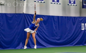 Sophomore Kaitlyn McCarthy was a perfect 14-0 in ACC play for the Blue Devils on Court 4 in the regular season.