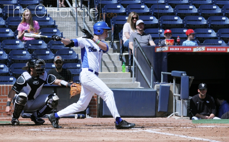 Michael Smiciklas spearheaded a surge in the middle of Duke's order to help the Blue Devils explode for 14 runs against Presbyterian Wednesday.