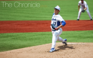 Ryan Day surrendered just two runs in a career-high eight innings Saturday, but the Blue Devil offense did not give him enough support for a win.