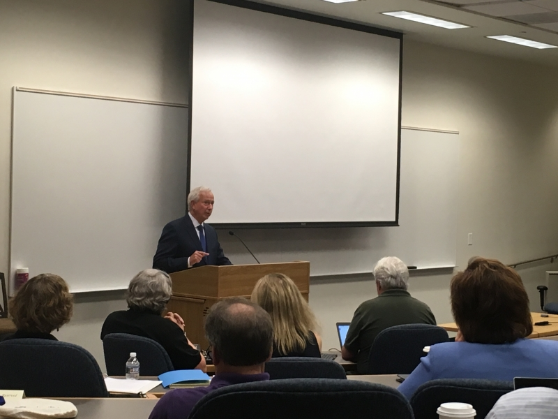 President Richard Brodhead addressed his final Academic Council meeting Thursday.