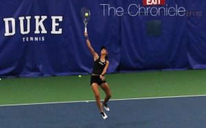 Freshman Meible Chi clinched the win for Duke with a 6-2, 6-3 win on Court 1.