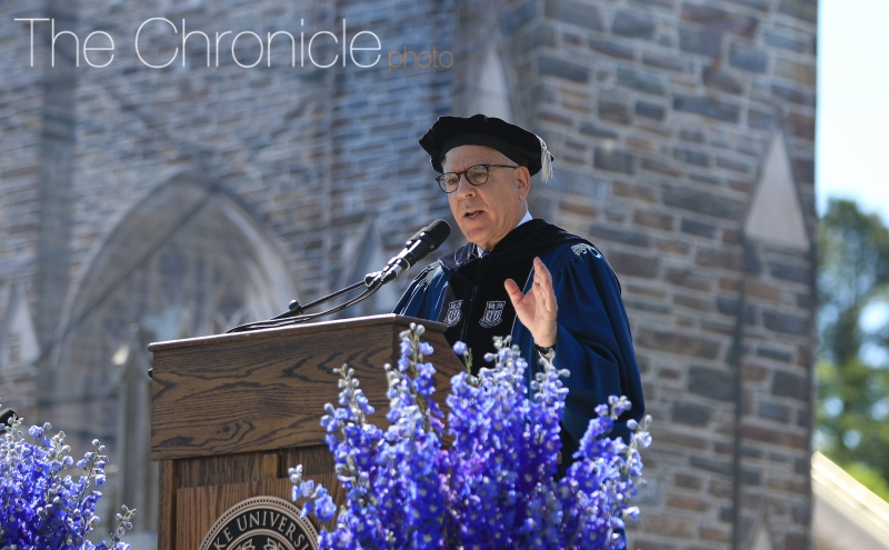 David Rubenstein, Trinity '70 and chair of the Board of Trustees, gave the commencement address Sunday.