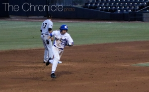 Chris Proctor drew a seven-pitch walk-off walk to win the Blue Devils' last game at the Durham Bulls Athletic Park of the year.
