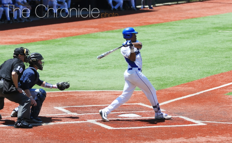 First baseman Jalen Phillips is the lone graduating player in Duke's lineup with the season coming to a close Saturday.