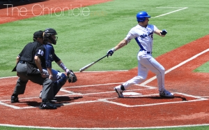 Griffin Conine was a second-team All-ACC selection this year and leads the Blue Devil lineup into the ACC tournament.