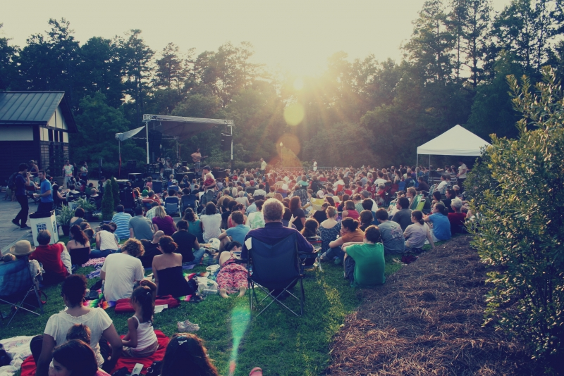 Every Wednesday during June and July, Duke Performances presents a series of concerts in Duke Gardens.