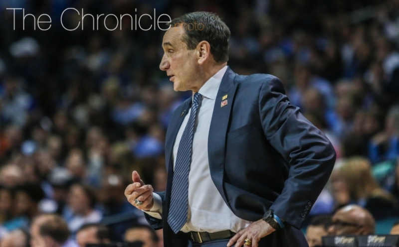 Mike Krzyzewski could get his 1,000th win at Duke Nov. 11 against Utah Valley.