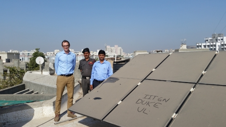 Mike Bergin first saw particles on solar panels on a rooftop of a building atIndian Institute of Technology at Gandhinagar.