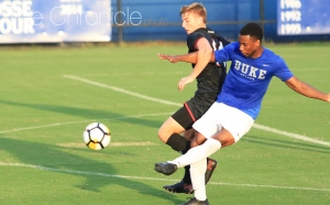 Senior defender Kevon Black started and helped the Blue Devils shut out South Carolina in their first exhibition match.