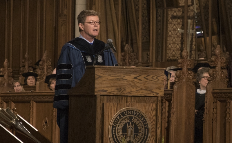 President Vincent Price, who took office July 1, spoke at his first Convocation Wednesday.
