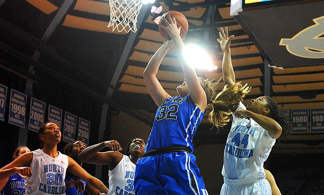Tricia Liston ranks in the ACC top 15 in field-goal percentage, making 42.3 percent of her 3-pointers.