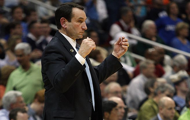 Duke basketball head coach Mike Krzyzewski must contend with a recruiting landscape in which sponsors are prominent factor, Gieryn writes.