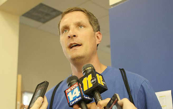 Former Blue Devil and NBA forward Christian Laettner spoke to the media at last week's 10th annual K Academy and discussed his aspirations to coach in the NBA.