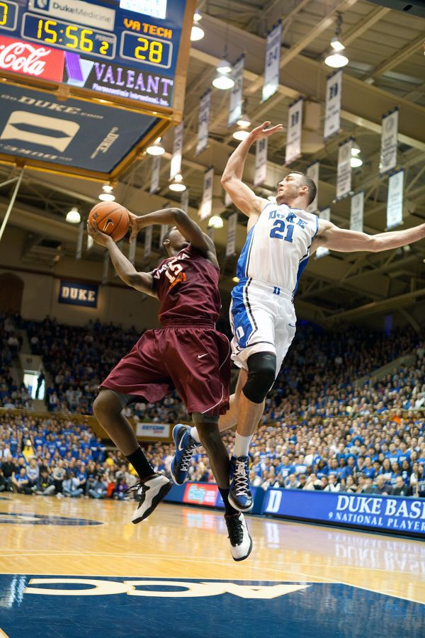Miles Plumlee had 15 rebounds in the Blue Devils' win over the Hokies Saturday.