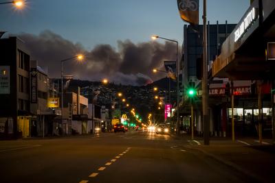 Christchurch fires 2017 - image published on Stuff Media