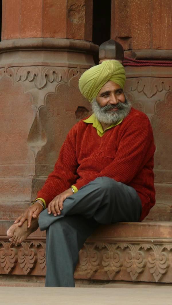 Mann in Delhi, Indien