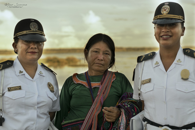 Shipiba con Policia Turística