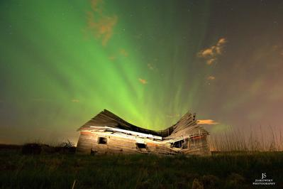 Abandoned House Nothern Lights