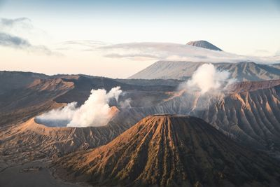 Mount Bromo smoking