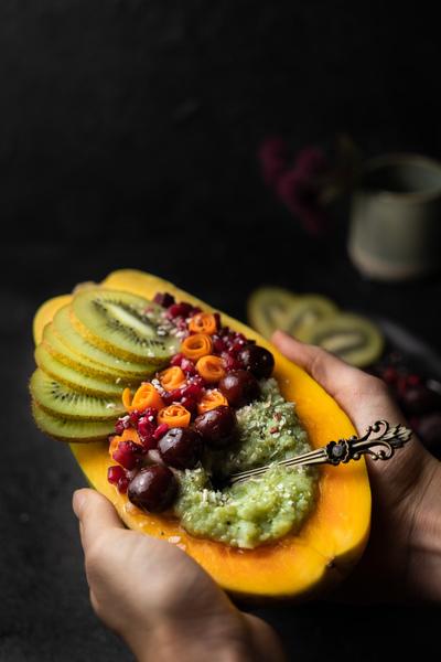 Gefüllte Papaya