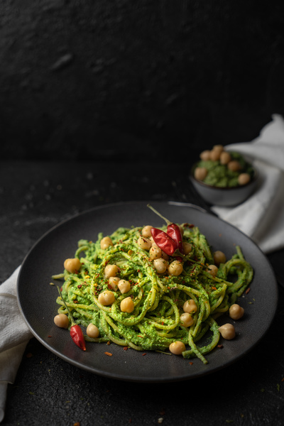 Grüne Pesto Spaghetti